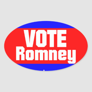 Vote Romney Oval Sticker