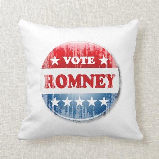 VOTE ROMNEY PILLOW