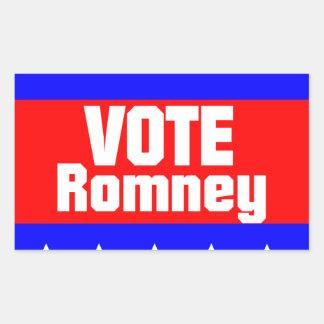 Vote Romney Rectangular Sticker