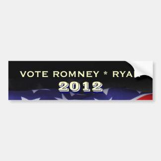 Vote Romney Ryan 2012 Campign Bumper Sticker