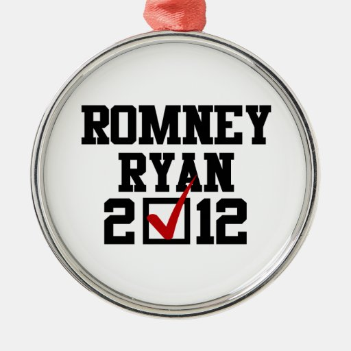 VOTE ROMNEY RYAN 2012 CHRISTMAS ORNAMENTS