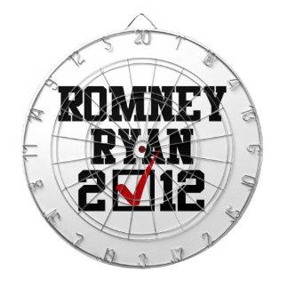 VOTE ROMNEY RYAN 2012 DARTBOARDS