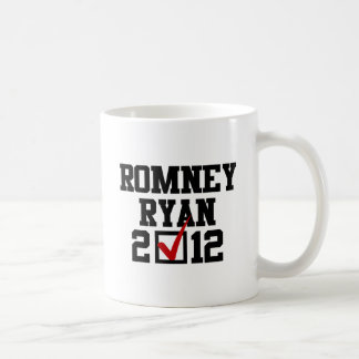VOTE ROMNEY RYAN 2012 CLASSIC WHITE COFFEE MUG