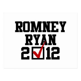 VOTE ROMNEY RYAN 2012 POST CARDS