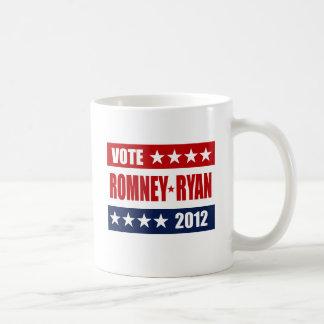 VOTE ROMNEY RYAN 2012 SIGN CLASSIC WHITE COFFEE MUG