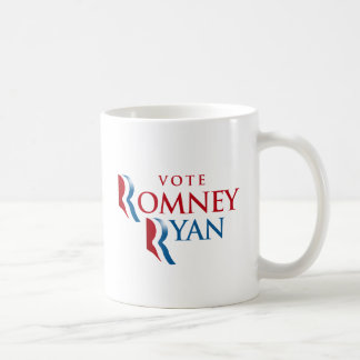 VOTE ROMNEY RYAN AMERICA CLASSIC WHITE COFFEE MUG