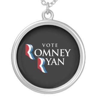 VOTE ROMNEY RYAN AMERICA -.png Necklace