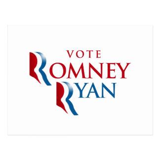 VOTE ROMNEY RYAN AMERICA POSTCARD