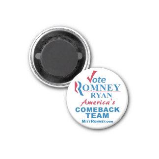 Vote Romney Ryan - Anti Obama 1 Inch Round Magnet