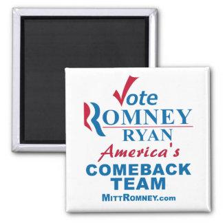 Vote Romney Ryan - Anti Obama 2 Inch Square Magnet