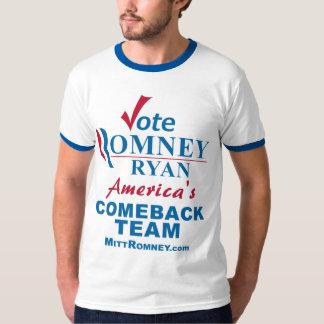 Vote Romney Ryan Comeback Team Tee Shirt