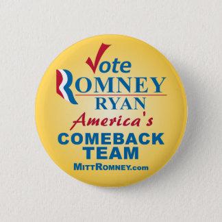 Vote Romney Ryan Pinback Button