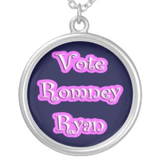 Vote Romney-Ryan Round Pendant Necklace