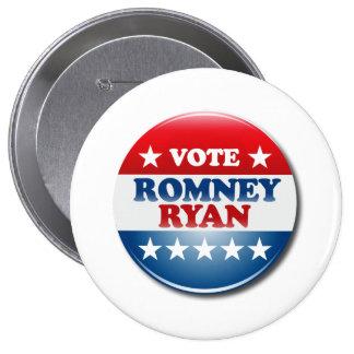 VOTE ROMNEY RYAN VP ROUND.png 4 Inch Round Button