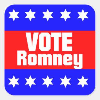 Vote Romney Square Sticker