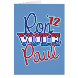Vote Ron Paul '12 Cards