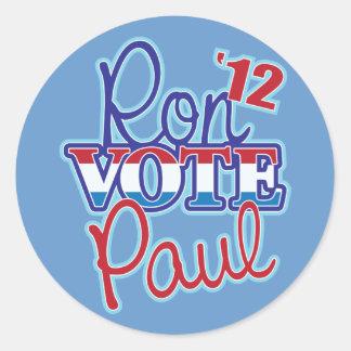 Vote Ron Paul '12 Classic Round Sticker