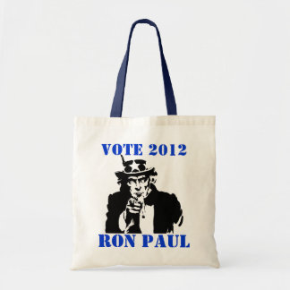 VOTE RON PAUL 2012 BUDGET TOTE BAG