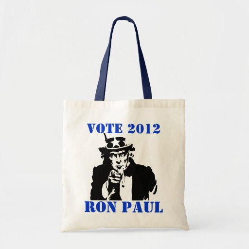 VOTE RON PAUL 2012 TOTE BAGS