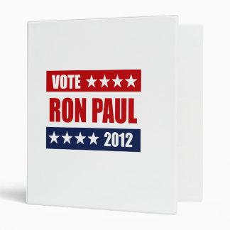 VOTE RON PAUL 2012 - VINYL BINDER