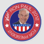 Vote Ron Paul 2012 Classic Round Sticker
