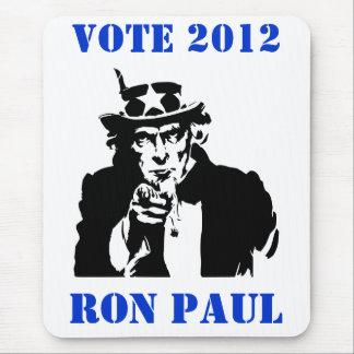 VOTE RON PAUL 2012 MOUSE PAD