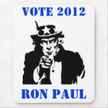 VOTE RON PAUL 2012 MOUSEPADS