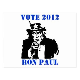 VOTE RON PAUL 2012 POSTCARD