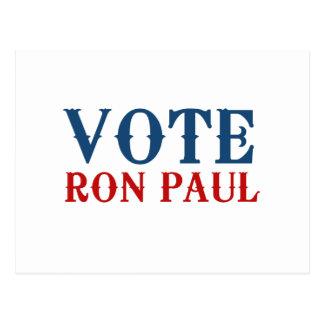 VOTE RON PAUL 2012 POST CARD