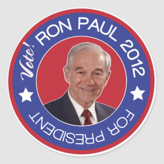 Vote Ron Paul 2012 Republican Classic Round Sticker