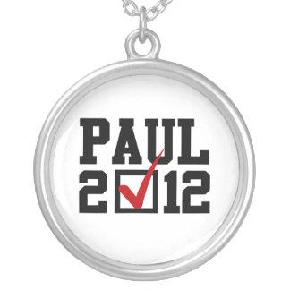 VOTE RON PAUL 2012 ROUND PENDANT NECKLACE