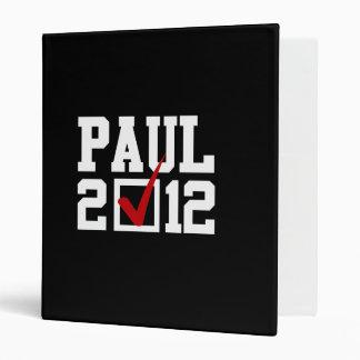 VOTE RON PAUL 2012 (white) Binders