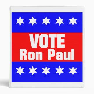 Vote Ron Paul Binder