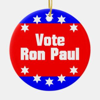 Vote Ron Paul Ceramic Ornament