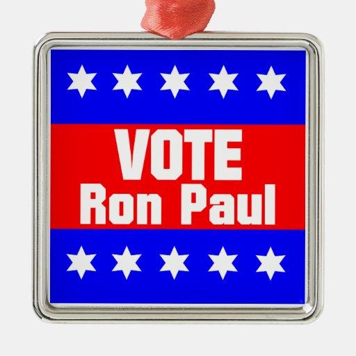 Vote Ron Paul Christmas Ornaments