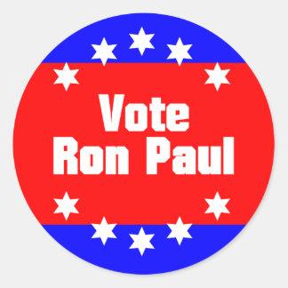 Vote Ron Paul Classic Round Sticker