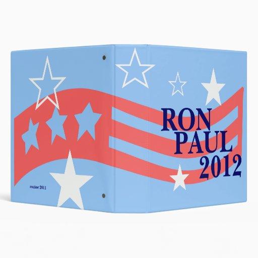 Vote Ron Paul for President 2012 Election Vinyl Binders