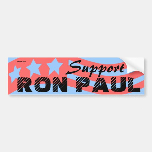 Vote Ron Paul for President 2012 Election Car Bumper Sticker