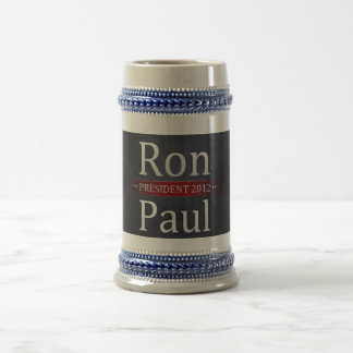 Vote Ron Paul for President in 2012 Beer Stein