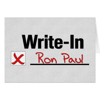 VOTE RON PAUL GREETING CARD