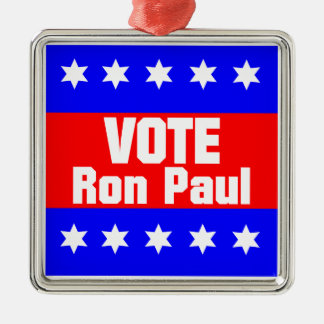 Vote Ron Paul Metal Ornament