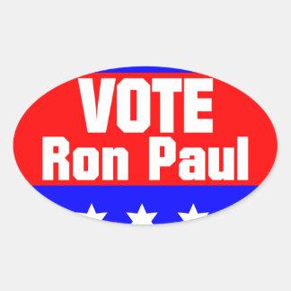 Vote Ron Paul Oval Sticker