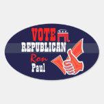 Vote Ron Paul PERSONALIZE Oval Sticker