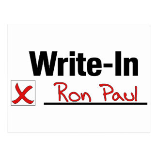 VOTE RON PAUL POSTCARD