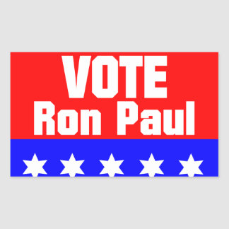 Vote Ron Paul Rectangular Sticker