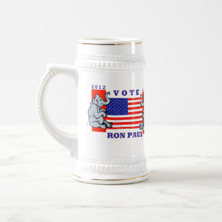 VOTE RON PAUL REPUBLICAN ELECTION BEER STEIN MUGS