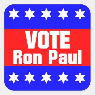 Vote Ron Paul Square Sticker