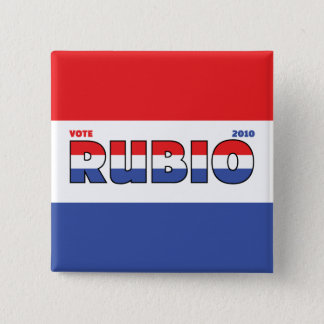 Vote Rubio 2010 Elections Red White and Blue Pinback Button