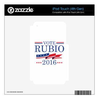 Vote Rubio 2016 iPod Touch 4G Decals