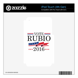 Vote Rubio 2016 iPod Touch 4G Skins